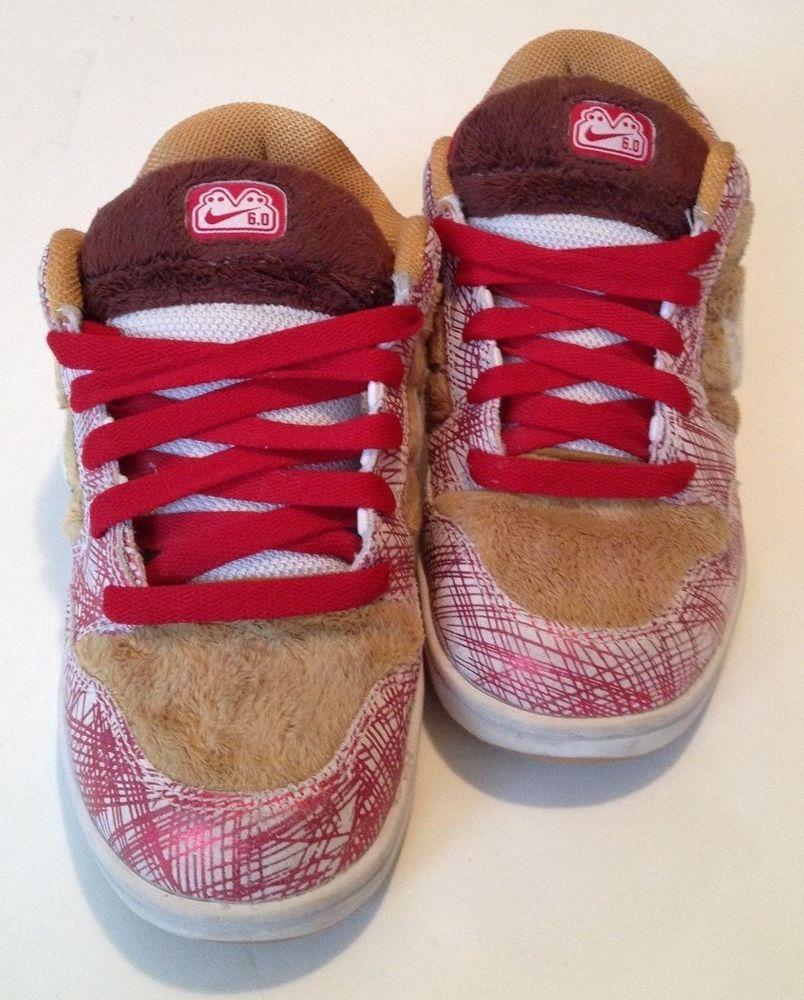tugurio Doméstico águila  Nike SB DUNK LOW 6.0 Mens Size 6 317190-711 Skateboard Red Gold White Brown  #Nike #AthleticSneakers | Nike sb dunks, Nike sb, Nike