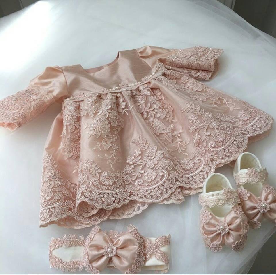 Kiz Bebek Icin 40 Mevludu Mevlut Elbisesi Ve Bebek Sunum Sepeti 2 Yenidogan Kiz Bebek Bebek Elbise