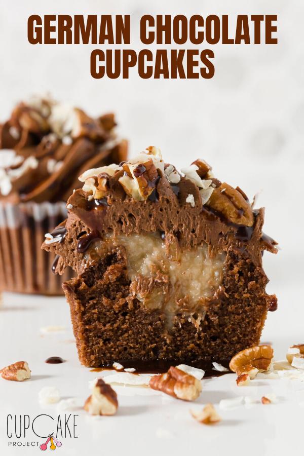 German Chocolate Cupcakes  #chocolatecupcakes