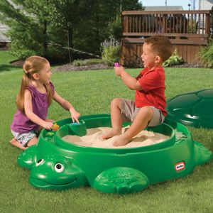 Oh Yeah We Have This Turtle Sandbox Its Got A Shell Cover To