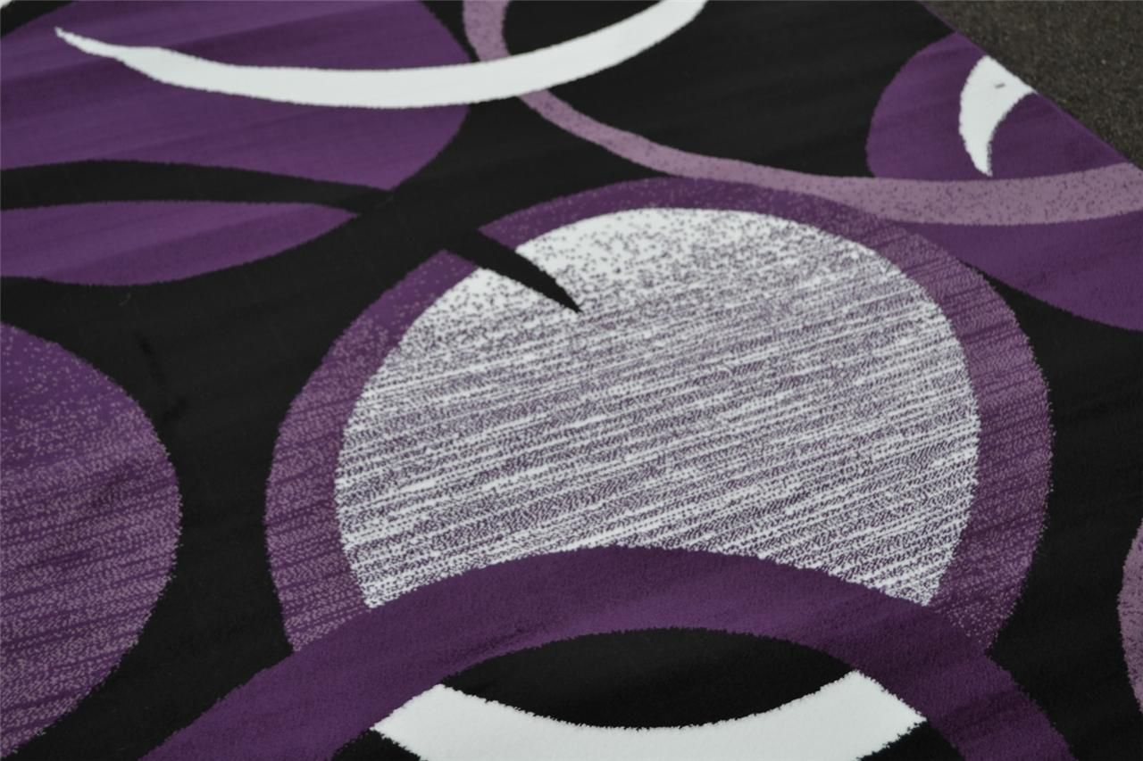 Details about 1062 red white purple gray black modern area for Rugs with purple accents