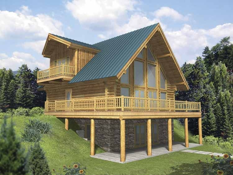 Log Houses House Plan With 2057 Square Feet And 3 Bedrooms S From Dream Home Source House Pla A Frame House Plans Log Cabin House Plans Mountain House Plans