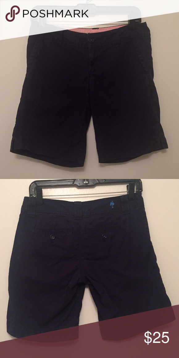 Lilly Pulitzer navy blue chipper shorts GUC. Lilly Pulitzer Shorts