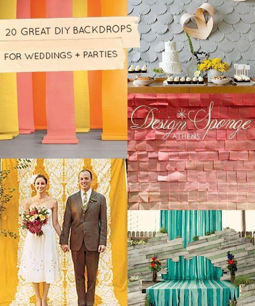 20 Great DIY Wedding Backdrop Ideas