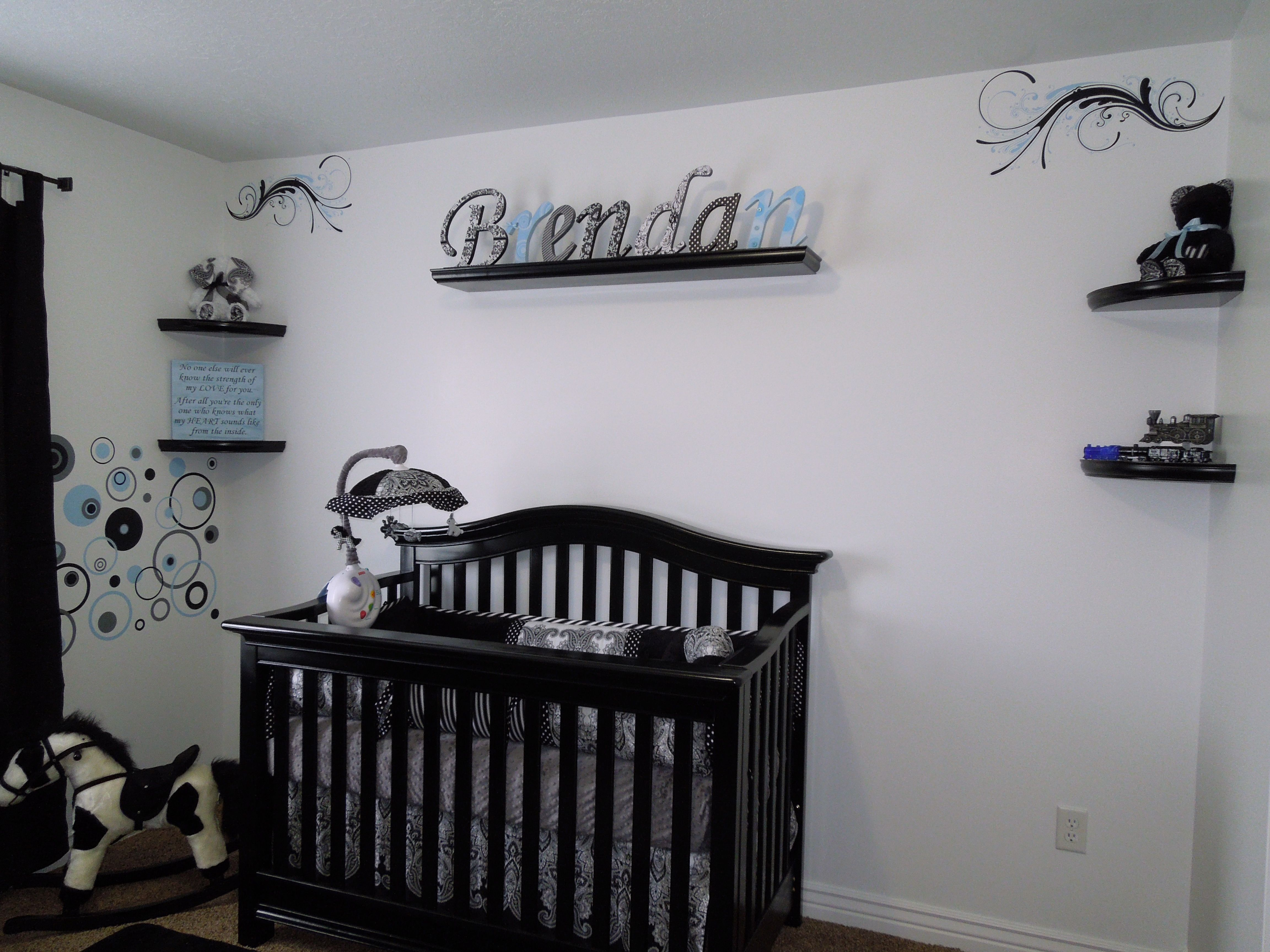 Our Baby Boy S Nursery Black And White Baby Brendan S