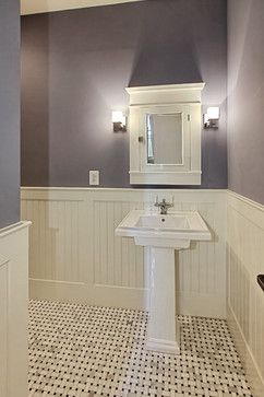 Powder Room Beadboard Design Ideas, Pictures, Remodel And Decor