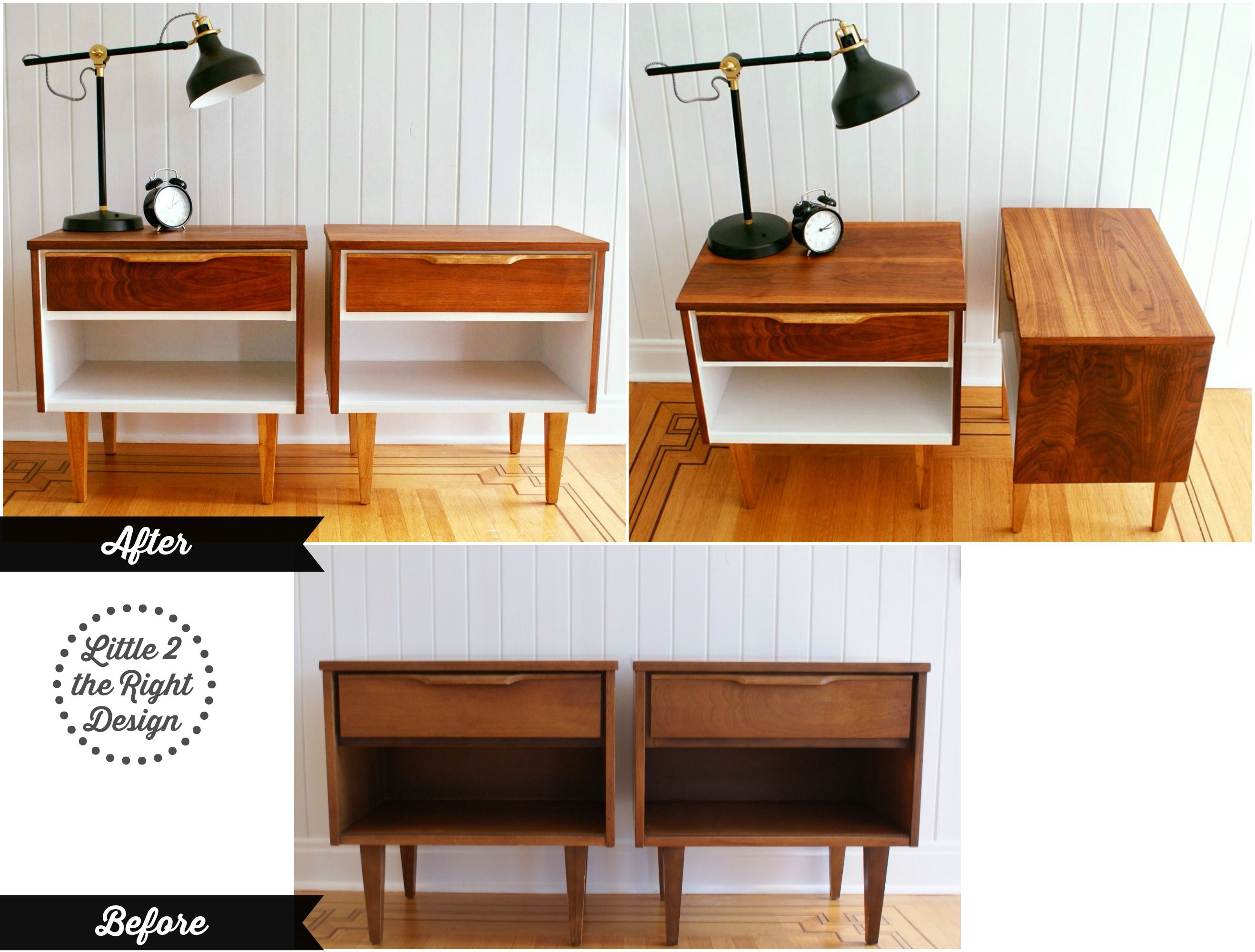 mid century modern furniture restoration. Before And After Of The Amazing Transformation A #mcm Mid Century Modern Side Tables Furniture Restoration R