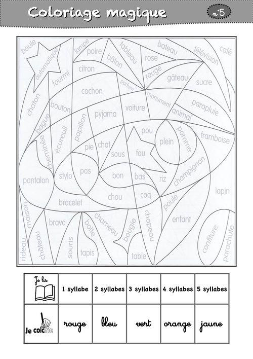 Coloriage Magique Cp De Noel.Coloriages Magiques Cp La Classe De Luccia Lecture French