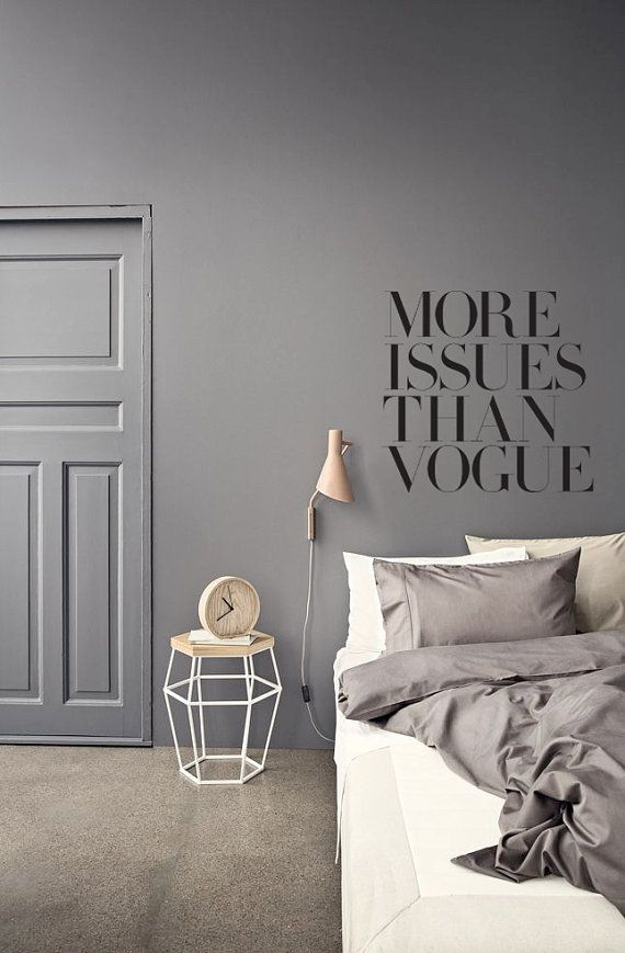 More issues than Vogue Wall Decal Interior Design Pinterest
