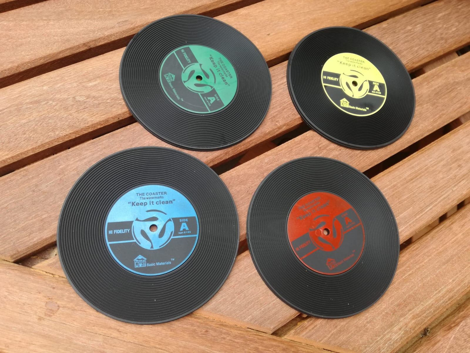 Record Vinyl Coasters Rubber Pack Of 4 Perfect Gift For Any Etsy Musical Gift Music Themed Vinyl Records Music