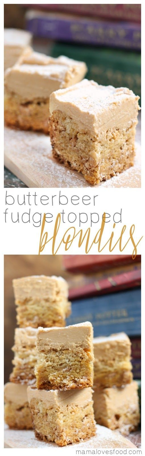 Butterbeer fudge topped blondies harry potter recipe baking butterbeer fudge topped blondies harry potter recipe forumfinder Images