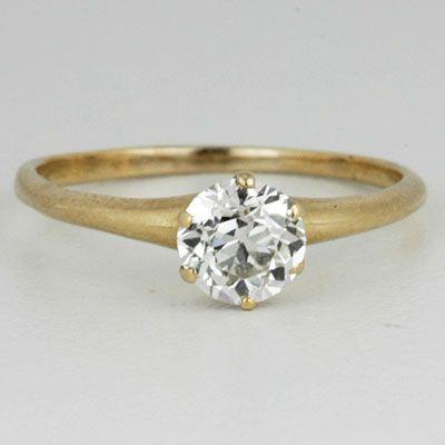 Circa 1900 Engagement Ring 8076