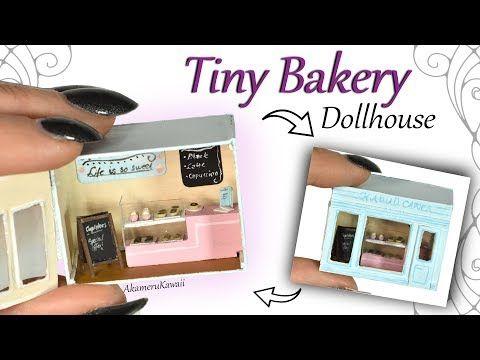 How to: Tiny Bakery Dollhouse w/ mini Cakes & Donuts - Polymer Clay Tutorial - YouTube #miniaturetoys