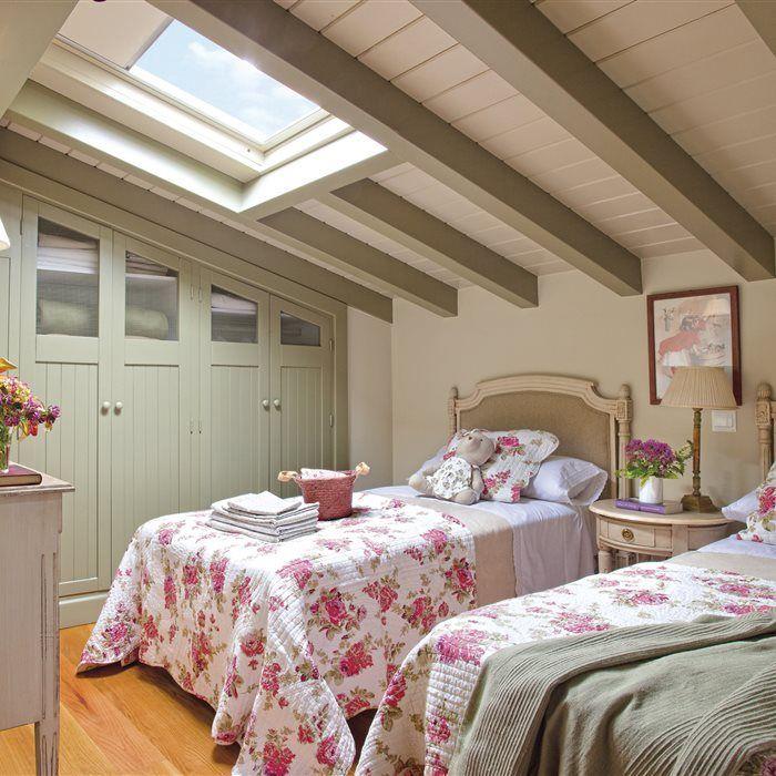 Habitaciones r sticas abuhardilladas deco me gusta pinterest r stico deco y fotos de - Habitaciones abuhardilladas ...