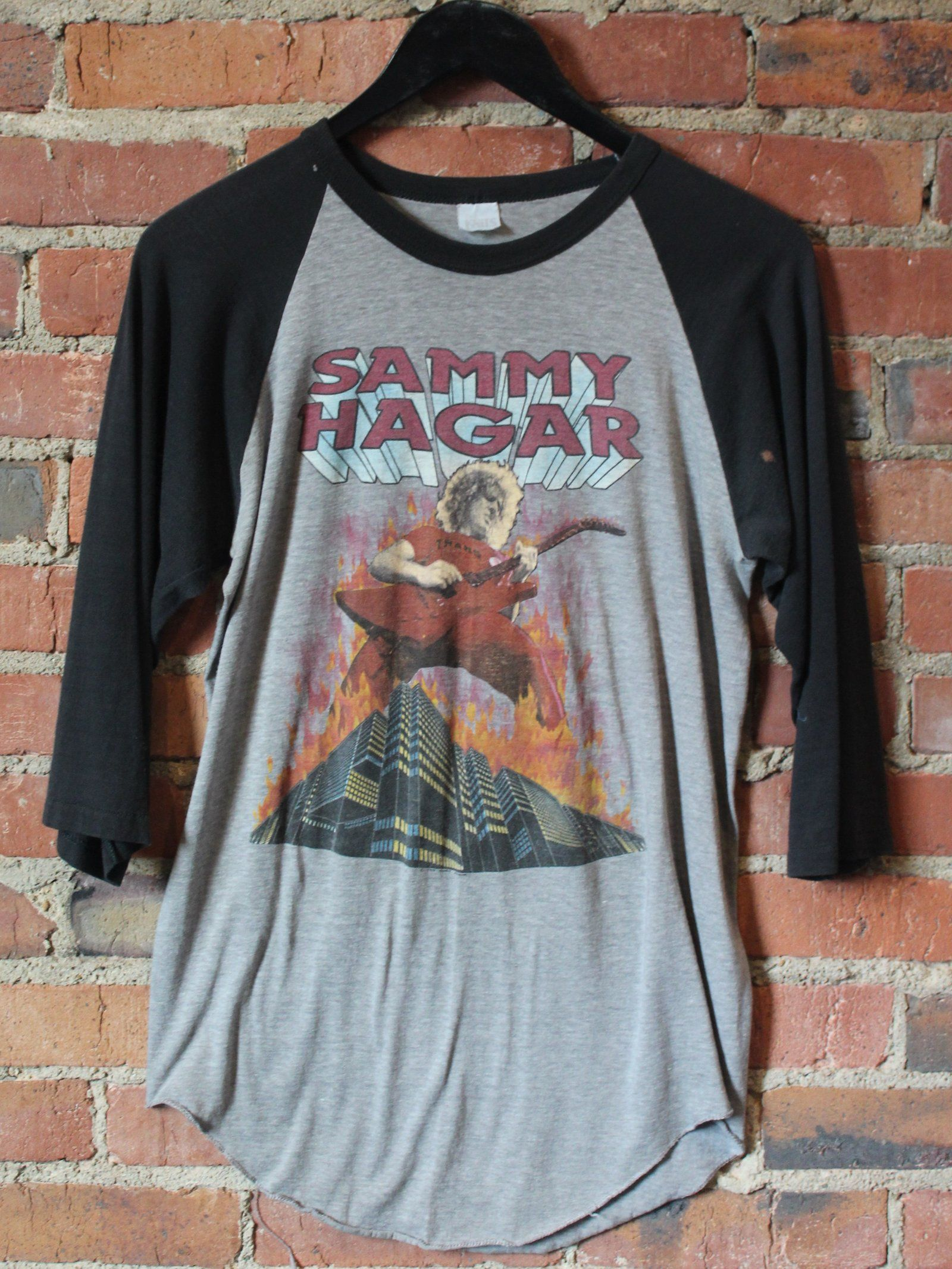 Thrashed 80 S Sammy Hagar Red Hot Rock Tour T Shirt 85 8 Shipping Domestic Sold As Is Dm For Inquiries Size Sma Tour T Shirts Mens Tops Shirts