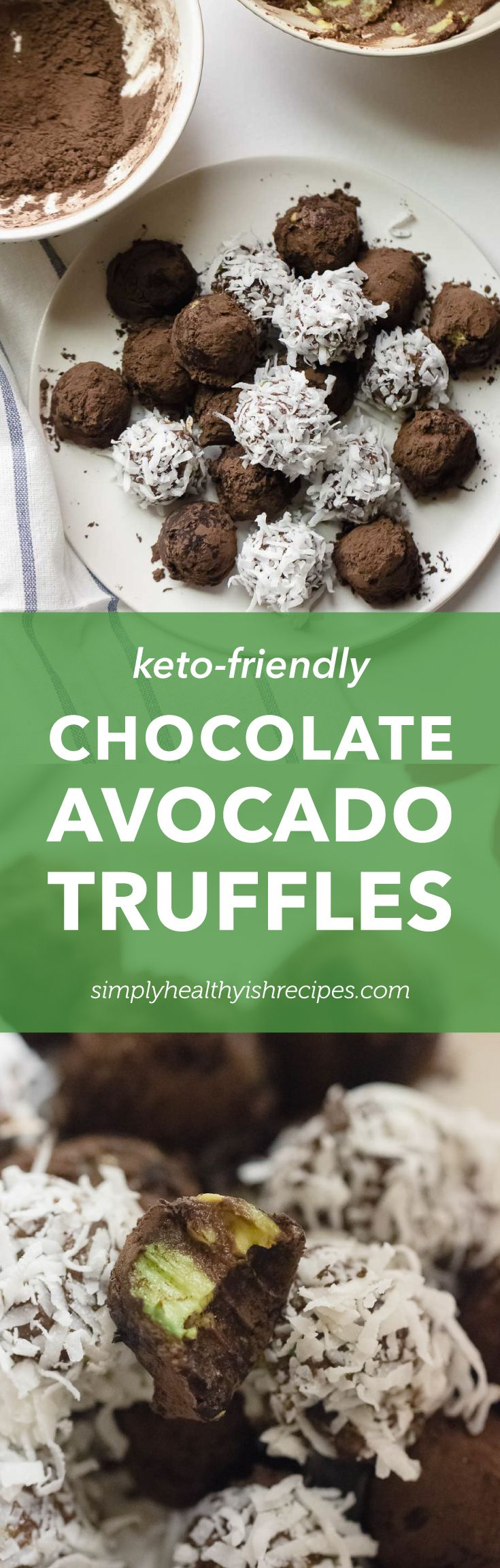 Chocolate avocado truffles for a ketofriendly treat that