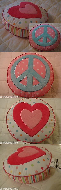 Circo Peace Girl Round Decorative Throw Pillow Sign HEART Pink Dot Extraordinary Round Decorative Bed Pillows