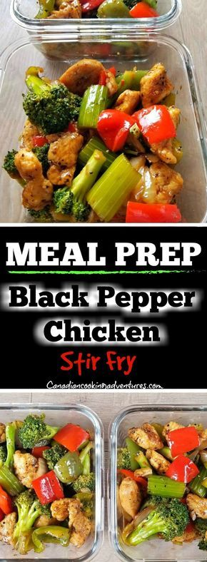 Black Pepper Chicken Stir Fry -   19 meal prep recipes for beginners simple ideas