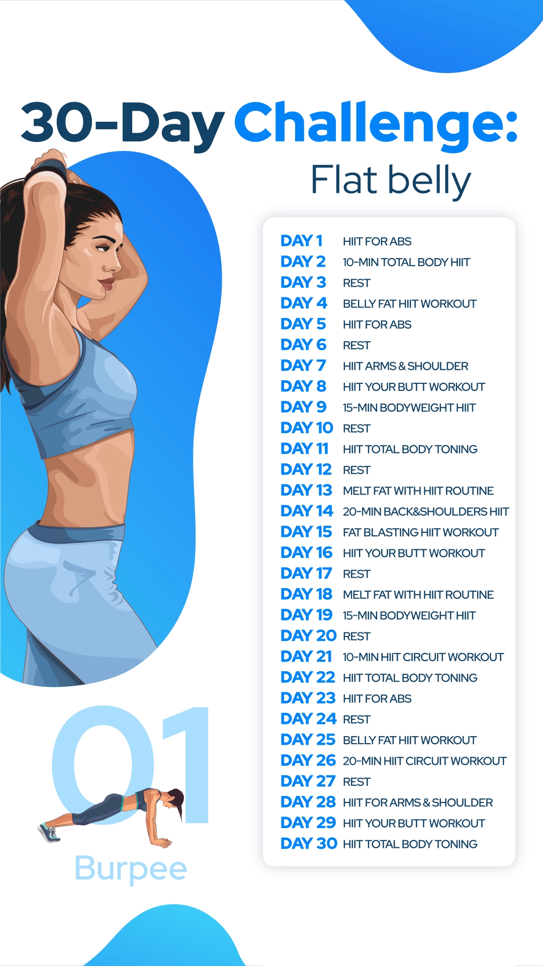 30-Day Flat Belly Challenge