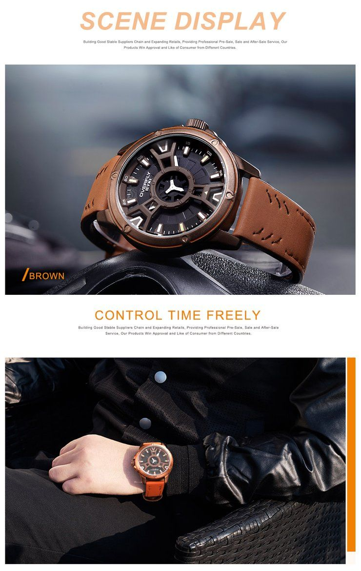 Luxury Military Waterproof Sport Army Quartz Double Dial Men Watch #sportswatches