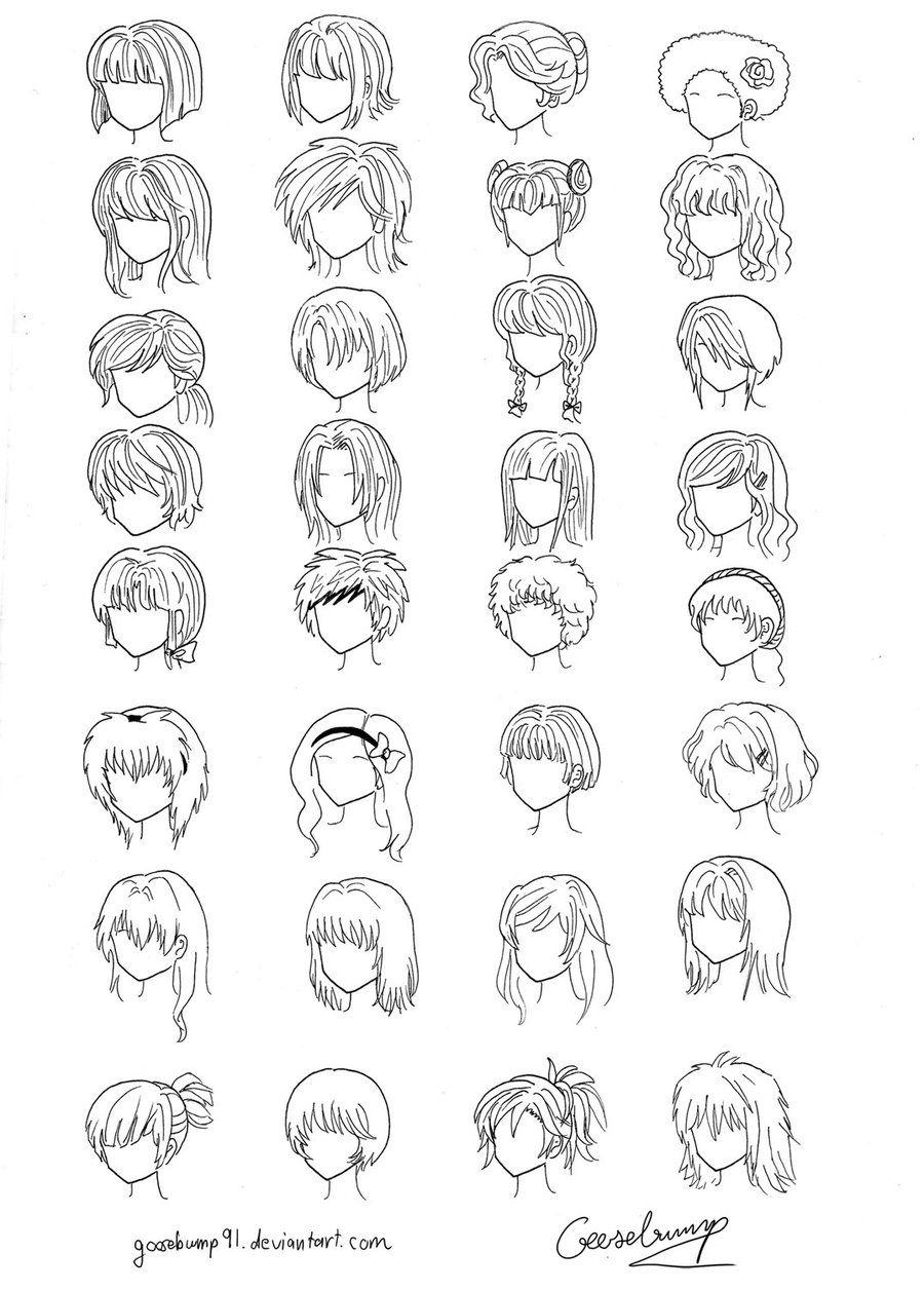 How to Draw Manga (step 1) Manga hair, How to draw hair