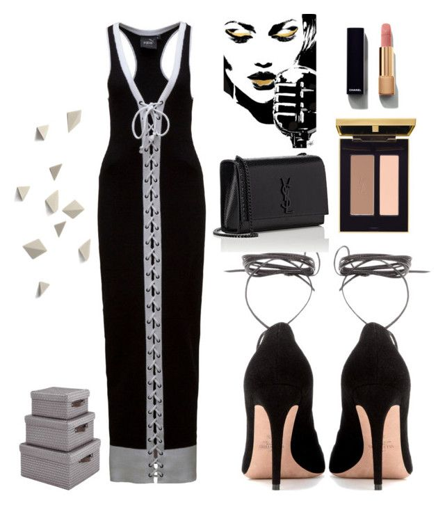 """""""Untitled #2666"""" by kotnourka ❤ liked on Polyvore featuring Puma, Valentino, Yves Saint Laurent and Chanel"""