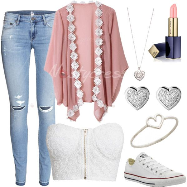 Summer Days by vidhip348 on Polyvore featuring polyvore fashion style NLY Trend H&M Converse Aurélie Bidermann Links of London Accessorize Estée Lauder