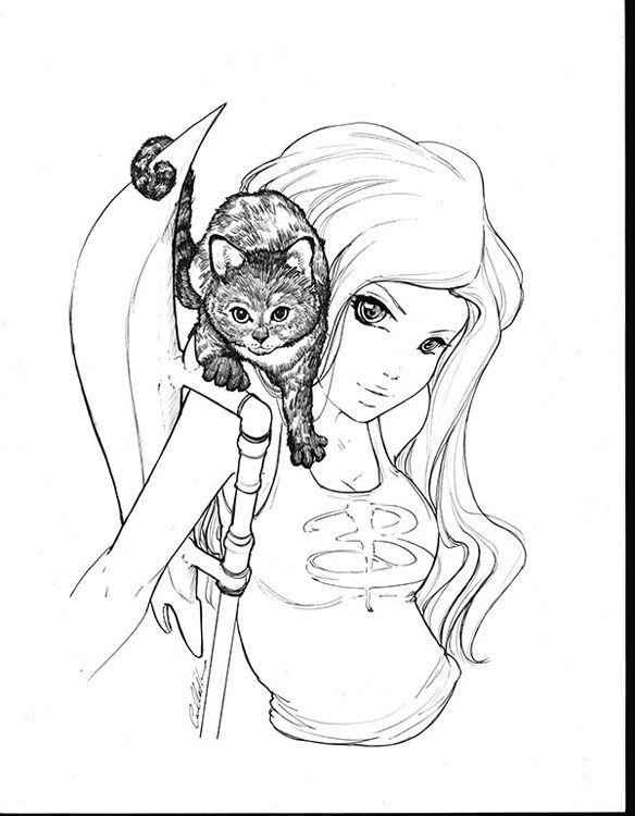 Buffy The Vampire Slayer Coloring Pages Sketch Coloring Page