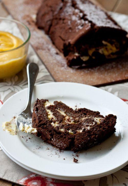 Schokoladen Passionsfrucht Roulade Mit Bildern Rezepte Mehlspeisen Passionsfrucht