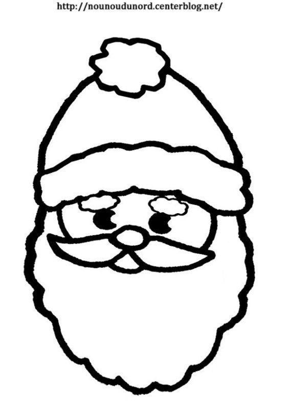 Pere Noel Pantin A Colorier Ou En Couleur Grand Modele Coloriage Noel Pere Noel Coloriage Magique Noel