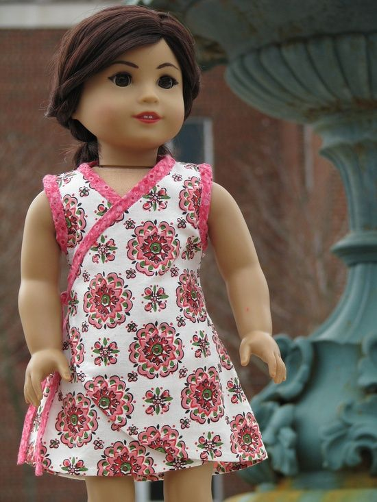 american girl doll dress made with the Ardently Admire Pattern From ...