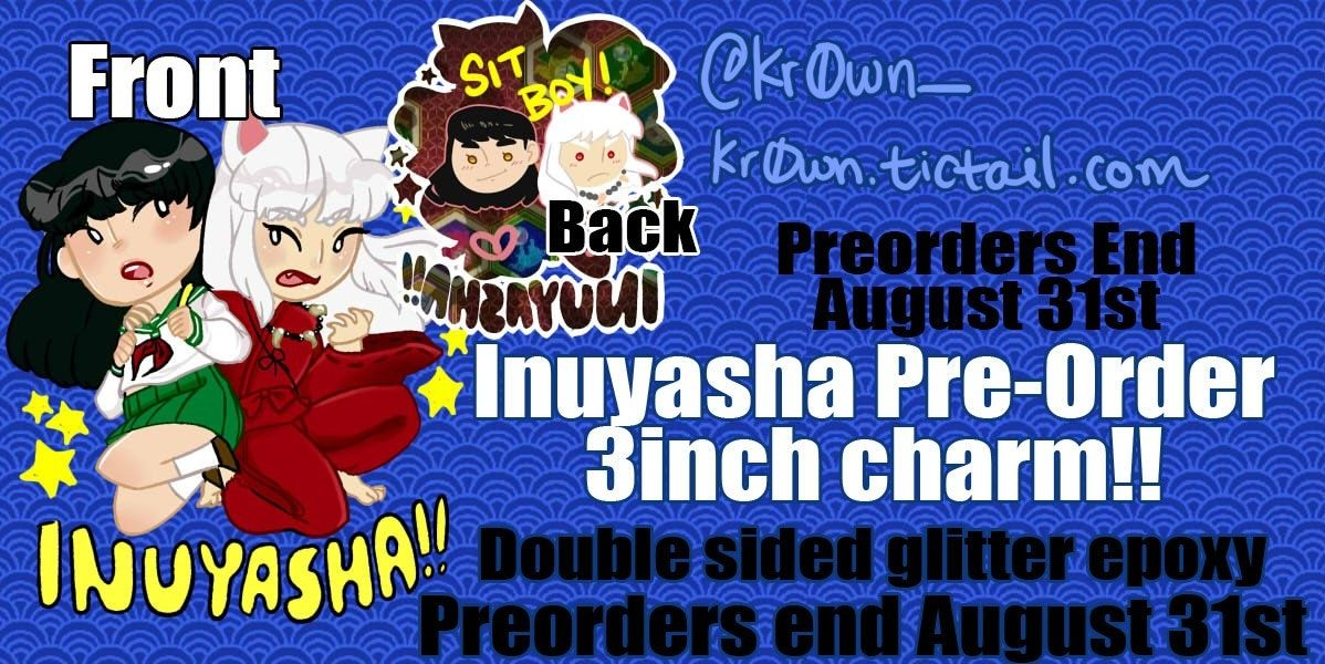 Inuyasha 3inch Double Sided Charm! by Pink Paper Krowns The charm is going  to be 9b2420cdc