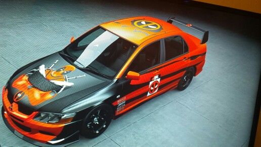 Made by me in Forza 5. Got the decals from searching but I pieced it all together. My drift car.