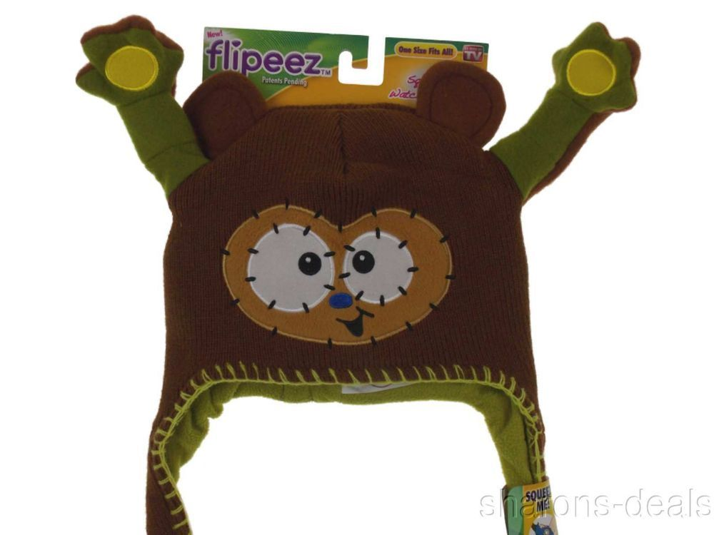 Flipeez Squeeze Me Hat /'Huggy the Monkey/' Brand New