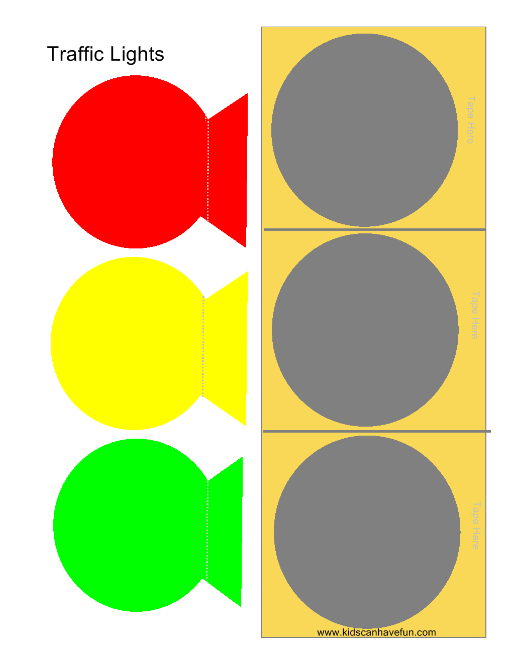 how to play traffic lights