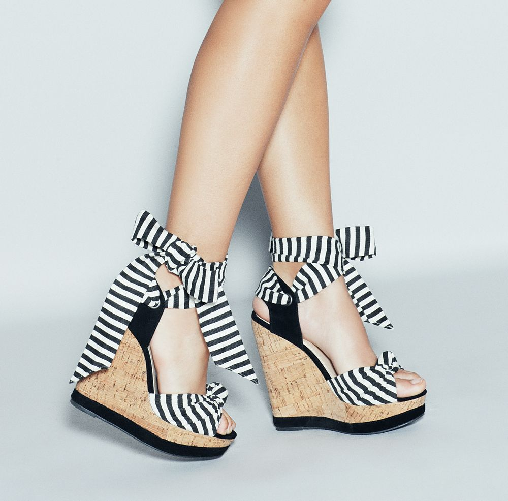 these striped wedges are awesome!