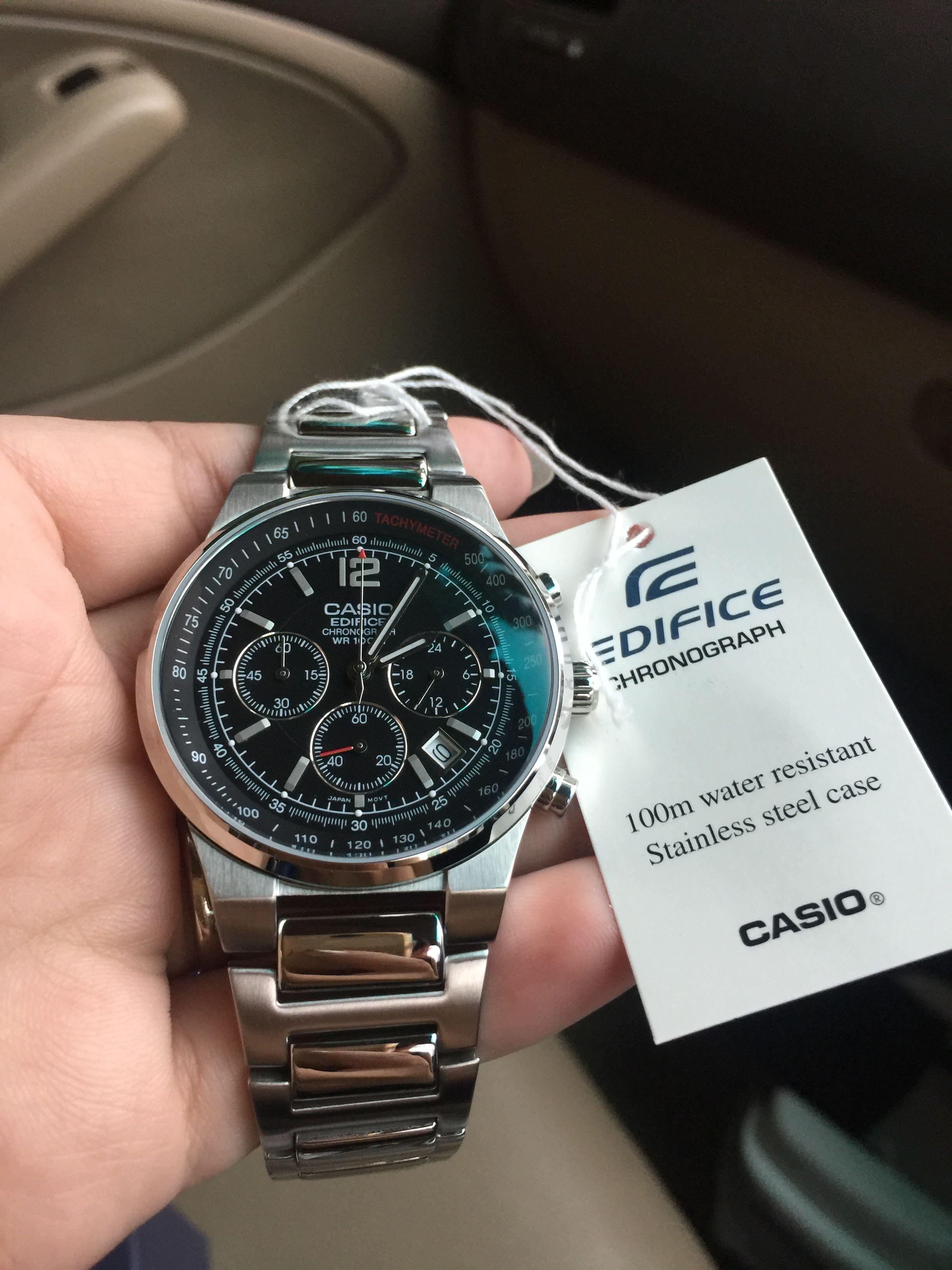 99521b08963 นาฬิกาข้อมือ Casio Edifice Chronograph รุ่น EF-500D-1AVDF นาฬิกาข้อมือสำหรับ