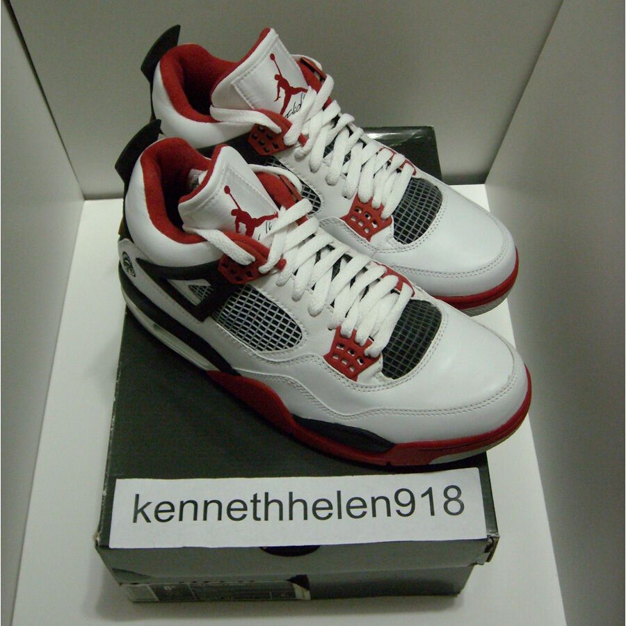 c776a846fb1c eBay  Sponsored NEW 2006 NIKE AIR JORDAN IV 4 RETRO MARS BLACKMON WHITE  VARSITY RED BLACK SZ 8.5