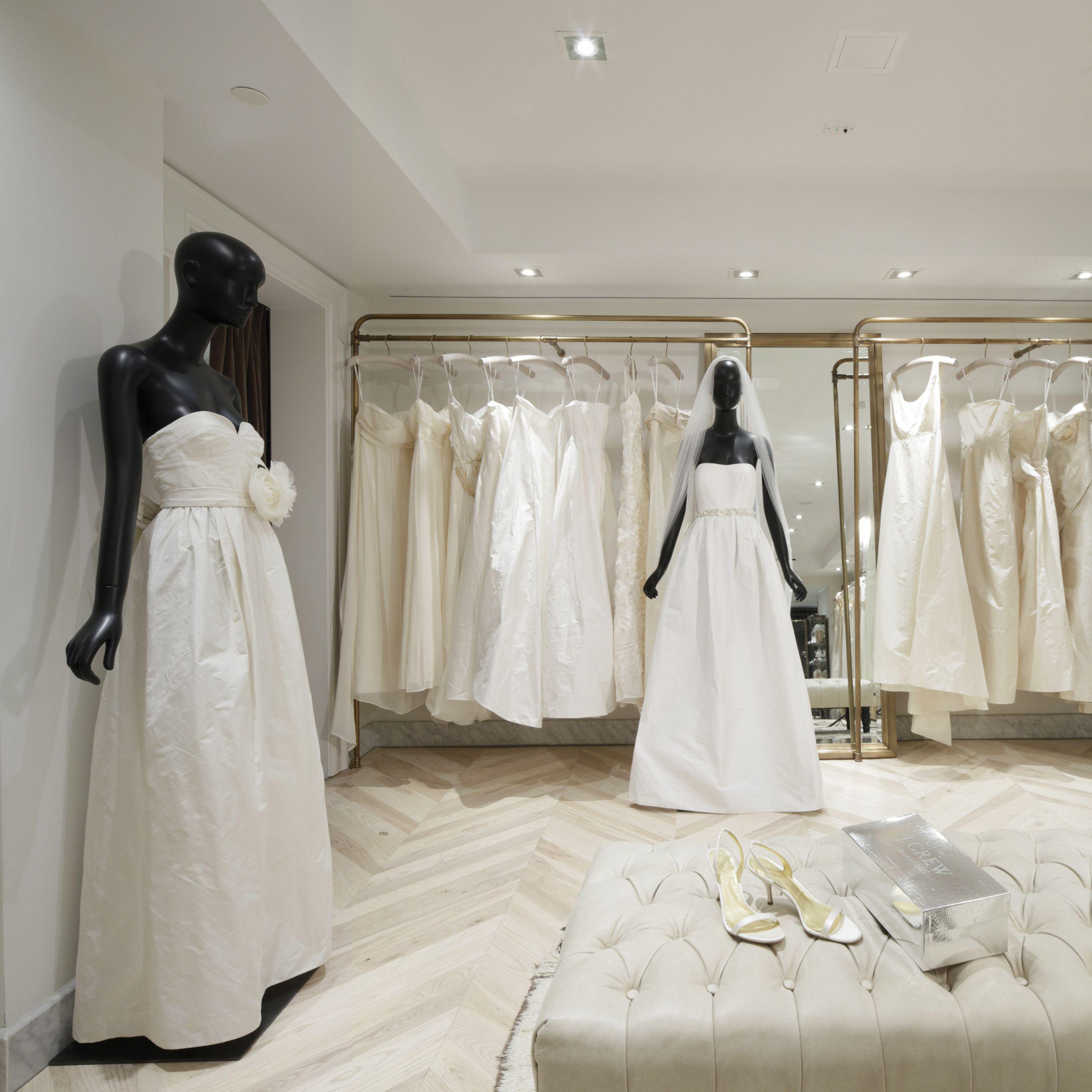 Inside The J Crew Bridal Boutique Discount Bridesmaid Dresses Wedding Dress Boutiques Wedding Dress Store