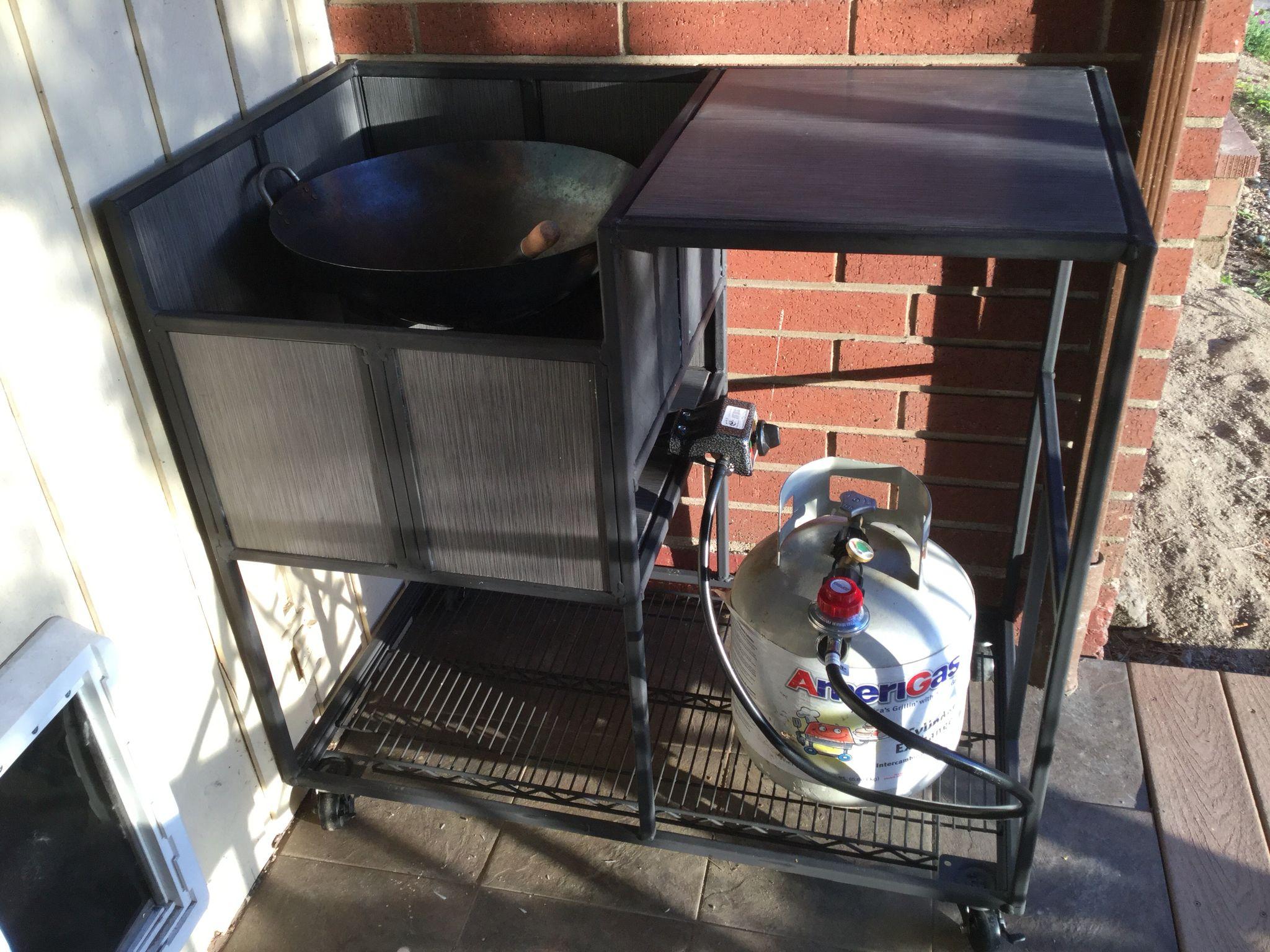 Outdoor Wok Burner Stand Built In Outdoor Grill Cooktop Outdoor Diy Projects