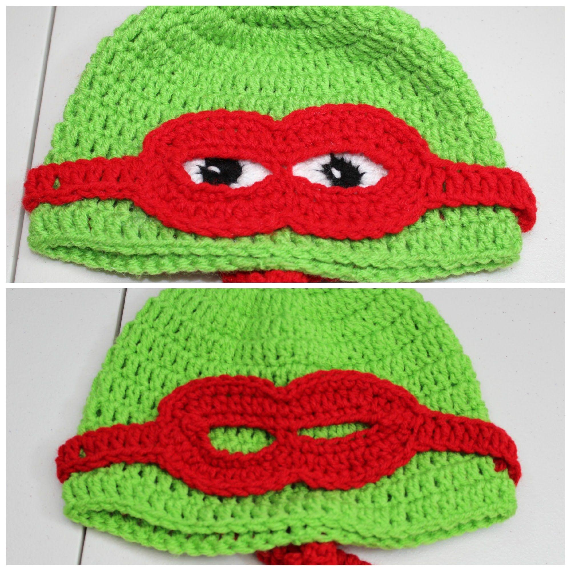 Dorable Patrón De Crochet Libre Para El Sombrero De Tortuga Ninja ...