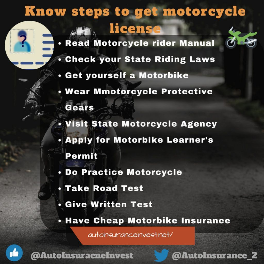 Know Steps To Get Motorcycle License Motorcycle License