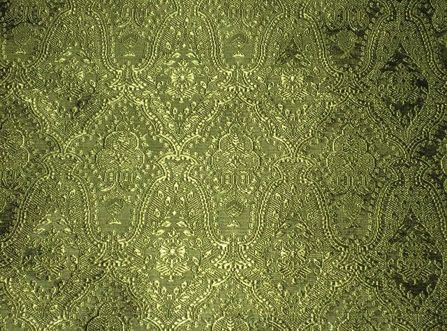 Brocade Jacquard Satin Dark Hunter 60 Inch Fabric by The Yard from The Fabric Exchange