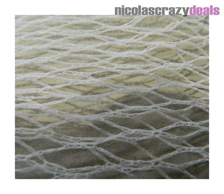 13m x 11m White Drape Over Anit Bird Netting Fruit Plant & Crop Protection 35gsm