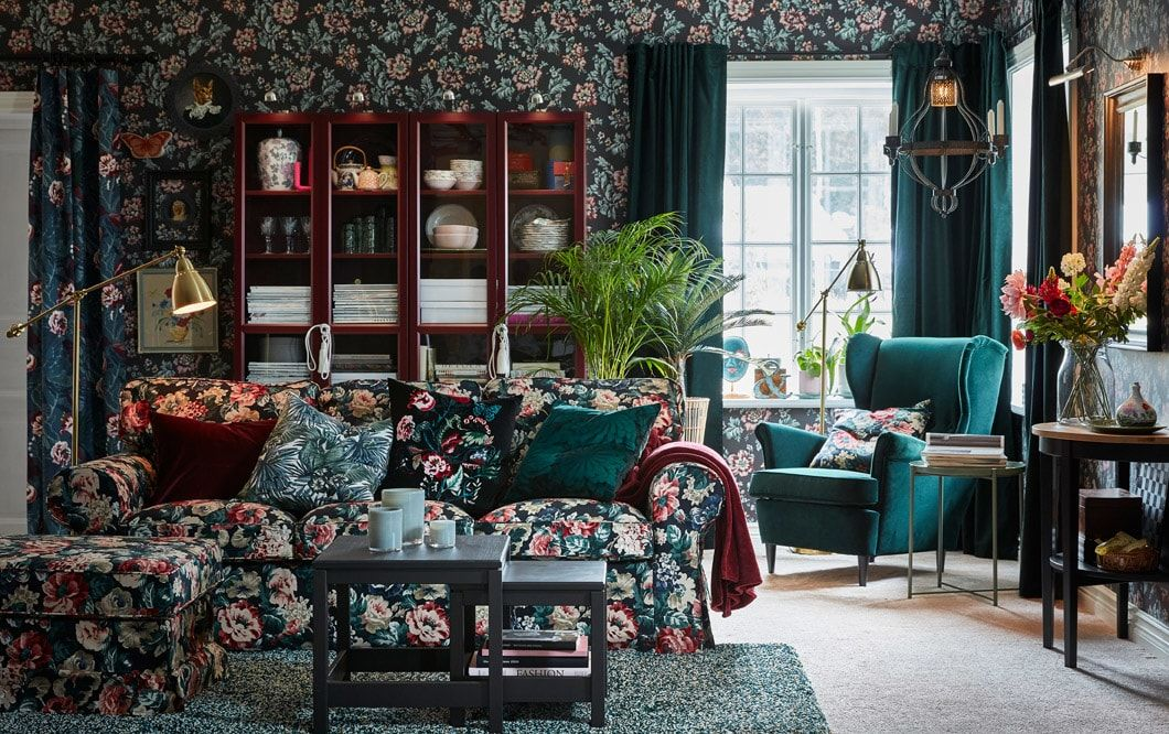 Deco Salon Notre Galerie De Photos Salon Living Room Furniture Inspiration Ikea Living Room Floral Living Room