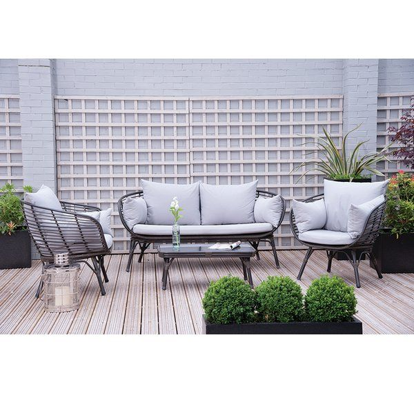 Sharee 4 Seater Rattan Sofa Set with Cushions in 2018 Garden