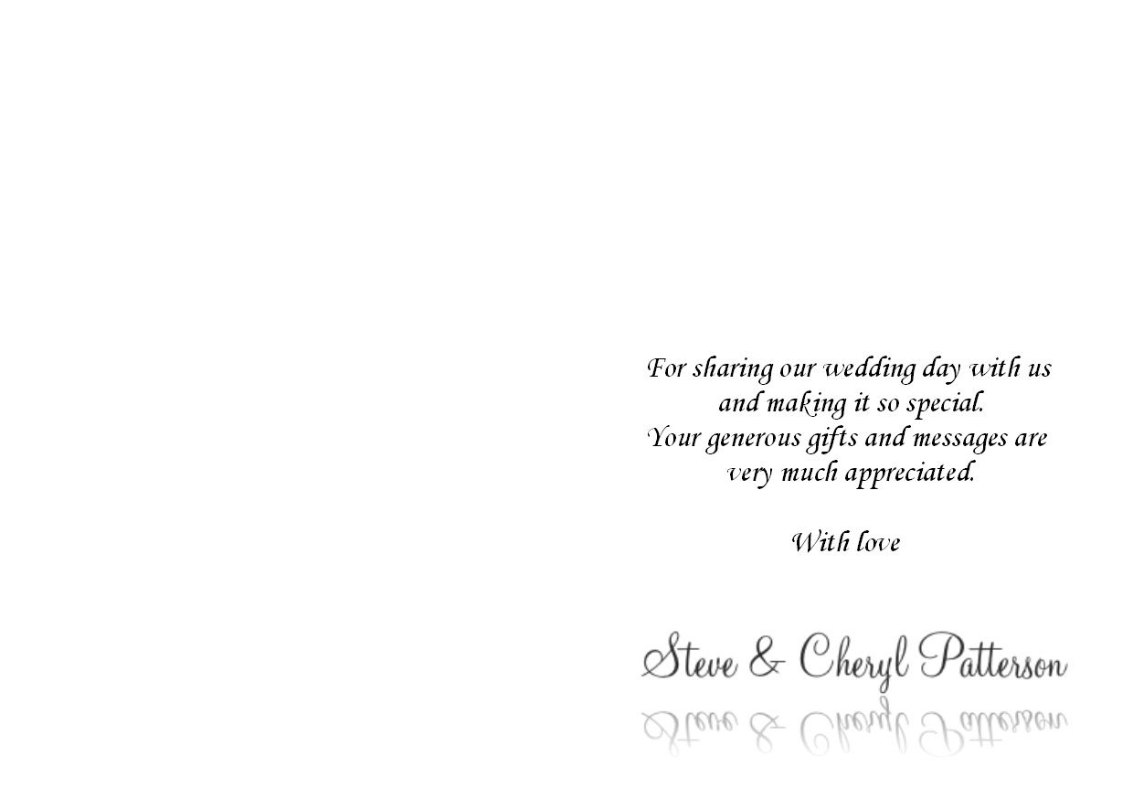 engagement party thank you card wording example Card – What to Write in Wedding Thank You Cards Sample