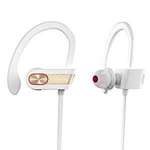 Amazon.com: HiGoing Wireless Sport Headphones Bluetooth Earbuds with Mic Workout Sweatproof Running Earphones with Earhook Stereo Noise Cancelling Headset, White: Cell Phones & Accessories