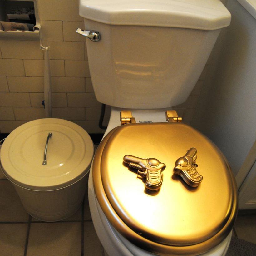 Blazing Saddle Toilet Seat Cover 60 Mchammer Mitt Romney