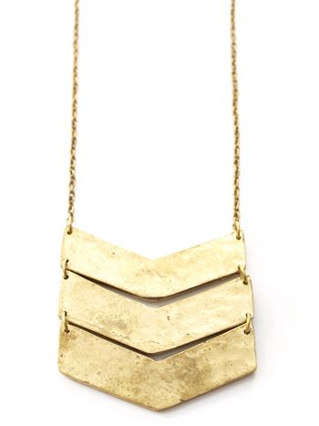 Chevron Necklace - handcrafted in India - fair trade